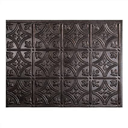 Amazon.com: Fasade Easy Installation Traditional 1 Smoked Pewter ...
