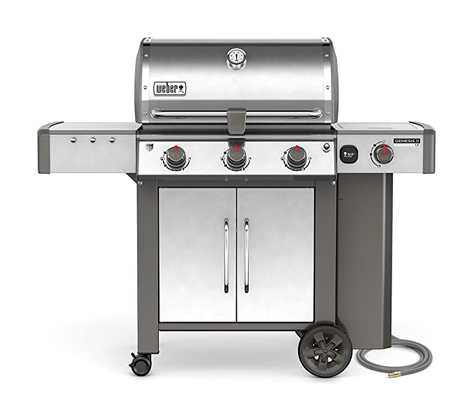 Weber Genesis II LX E-340 - Parrilla de gas natural: Amazon ...