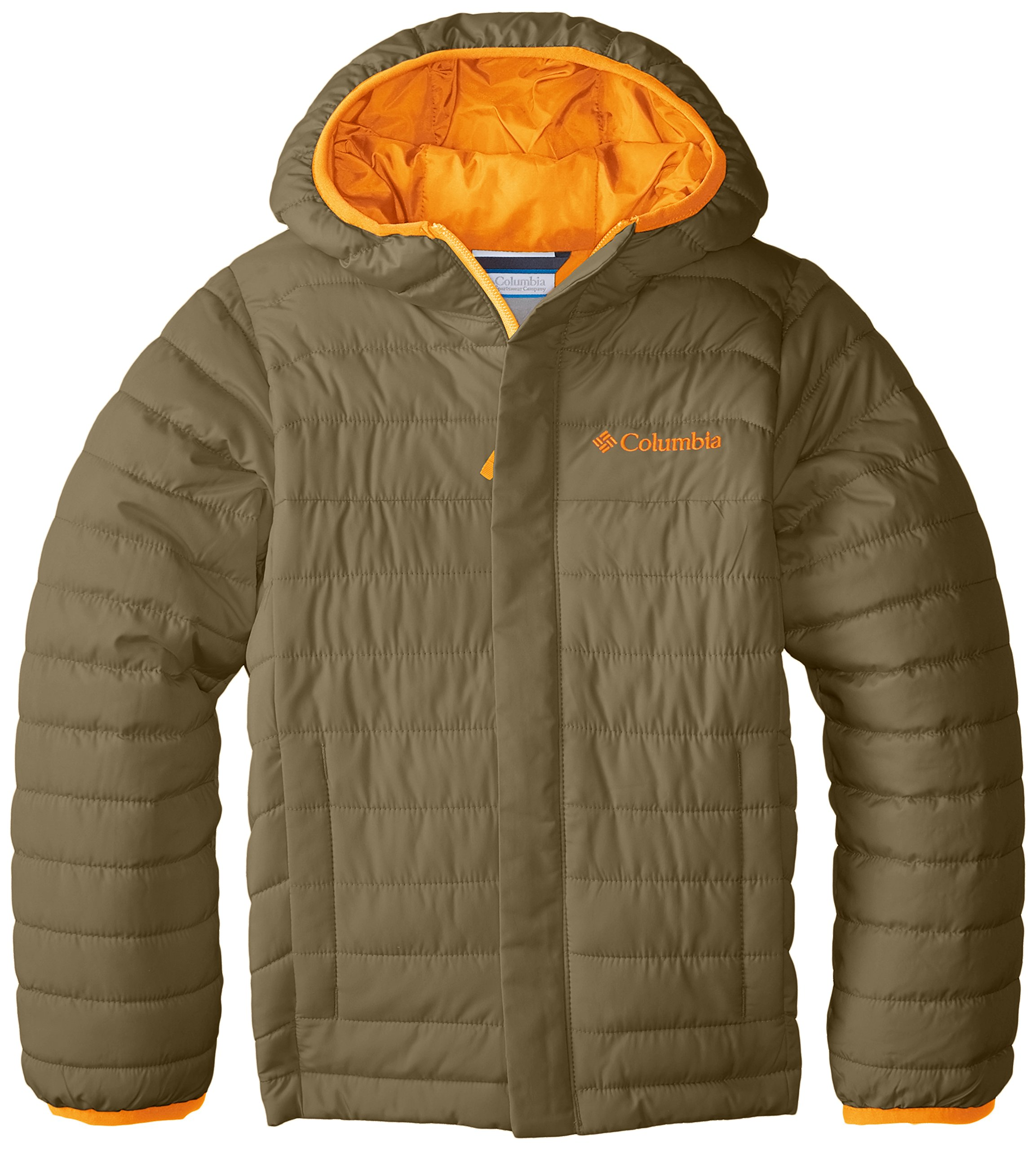 Columbia Big Boys' Powder Lite Puffer Jacket, Sage, Small by Columbia (Image #1)