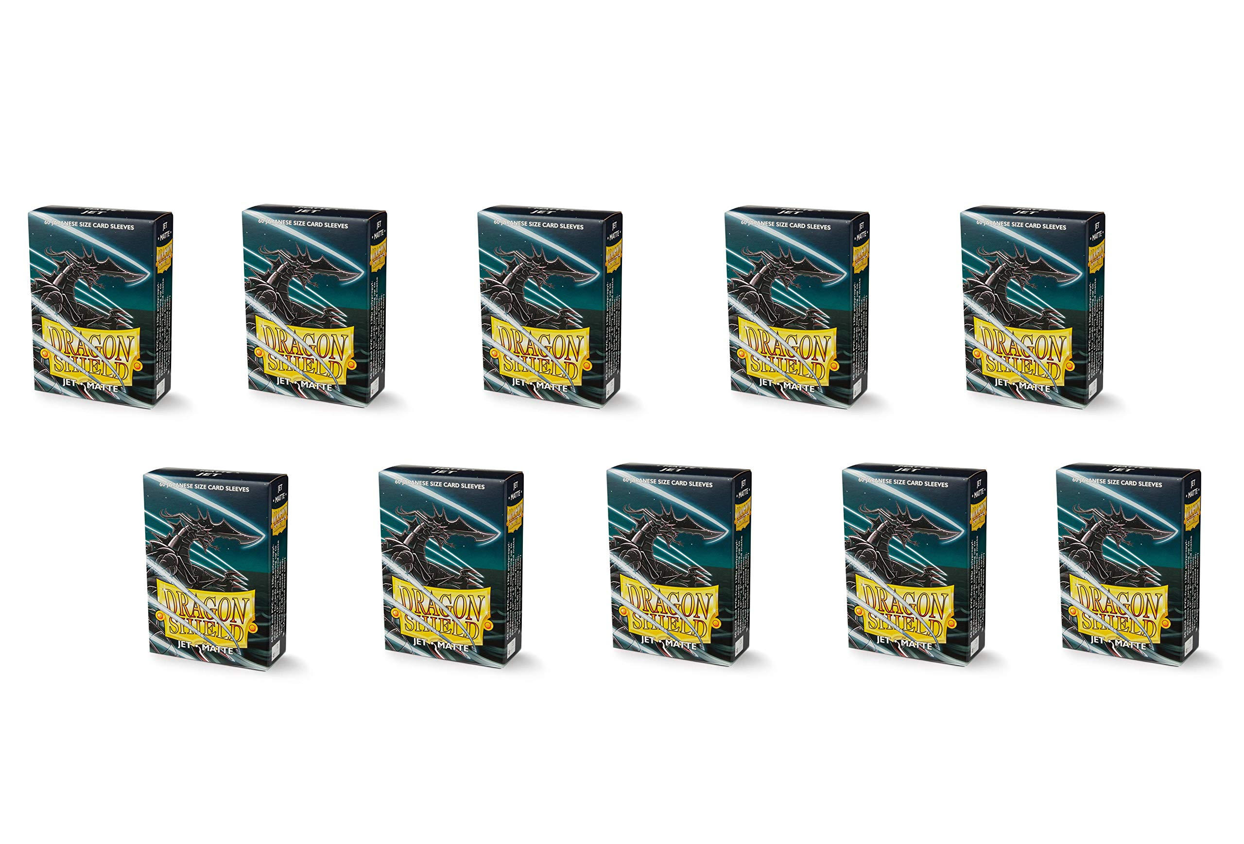 10 Packs Dragon Shield Matte Mini Japanese Jet 60 ct Card Sleeves Display Case