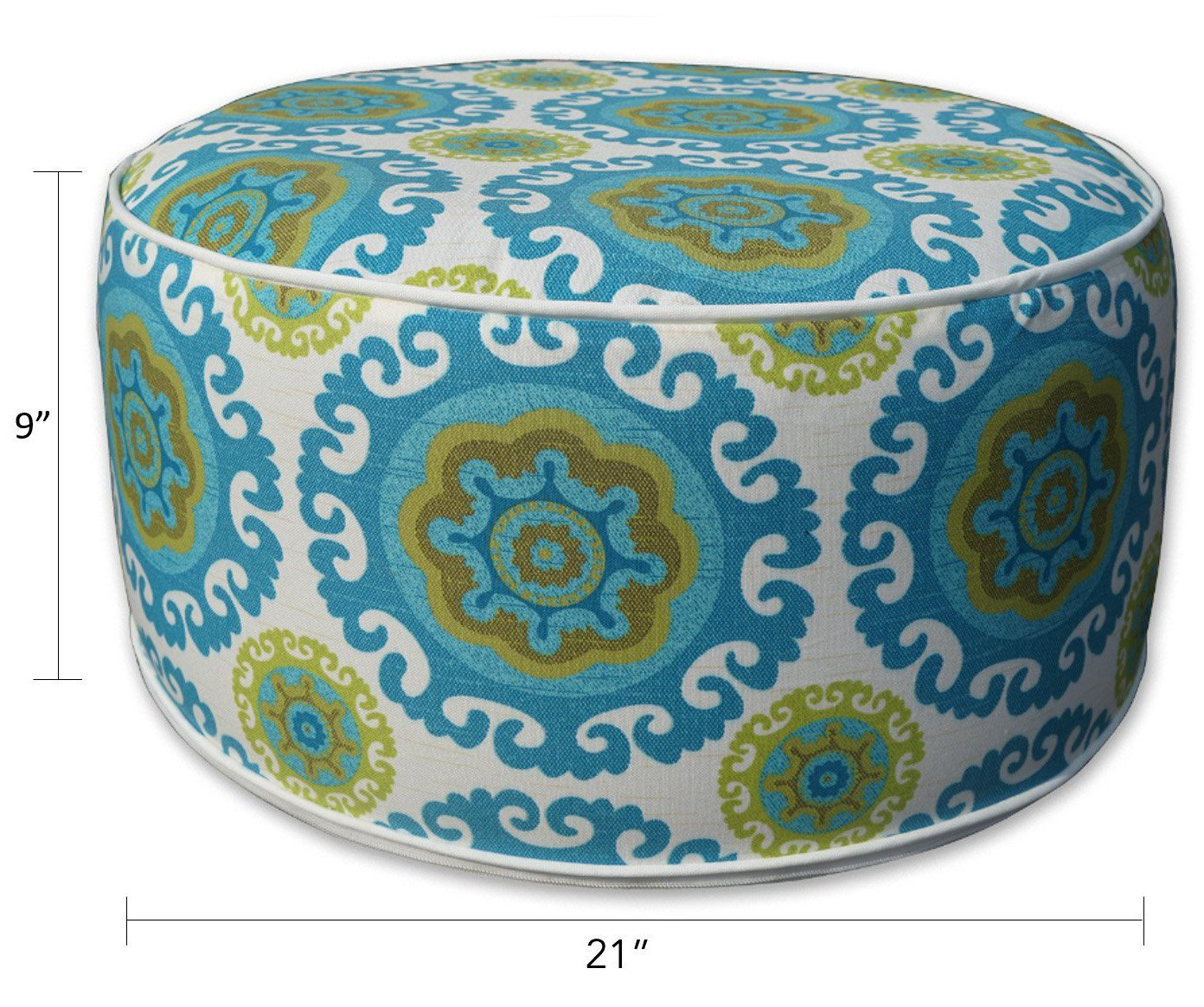 Kozyard Inflatable Stool Ottoman Used for Indoor or Outdoor, Kids or Adults, Camping or Home (Blue) by Kozyard (Image #3)