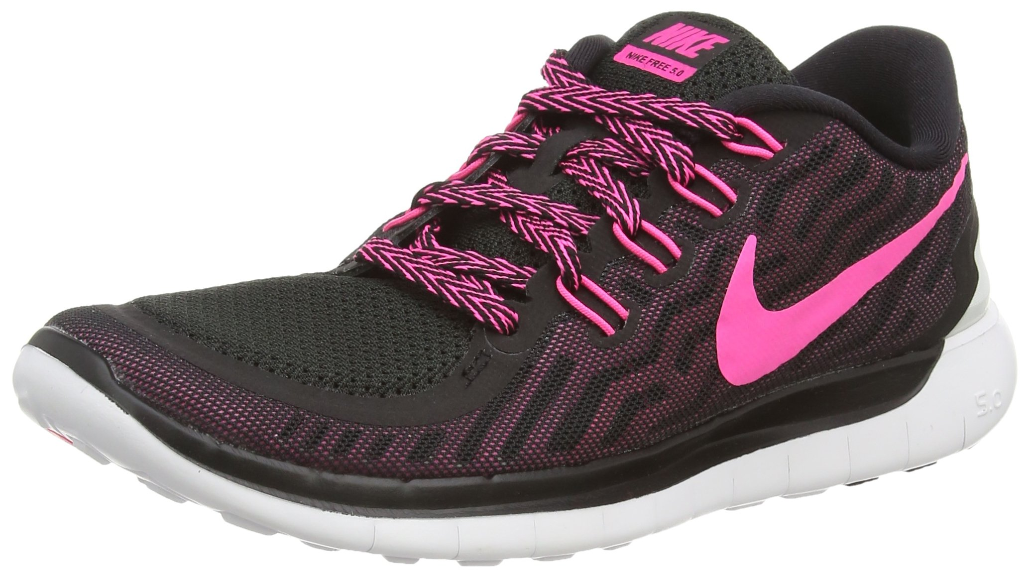 1fed52309674 Galleon - NIKE Women s Free 5.0 Running Shoes Black Pink Size 8 M US