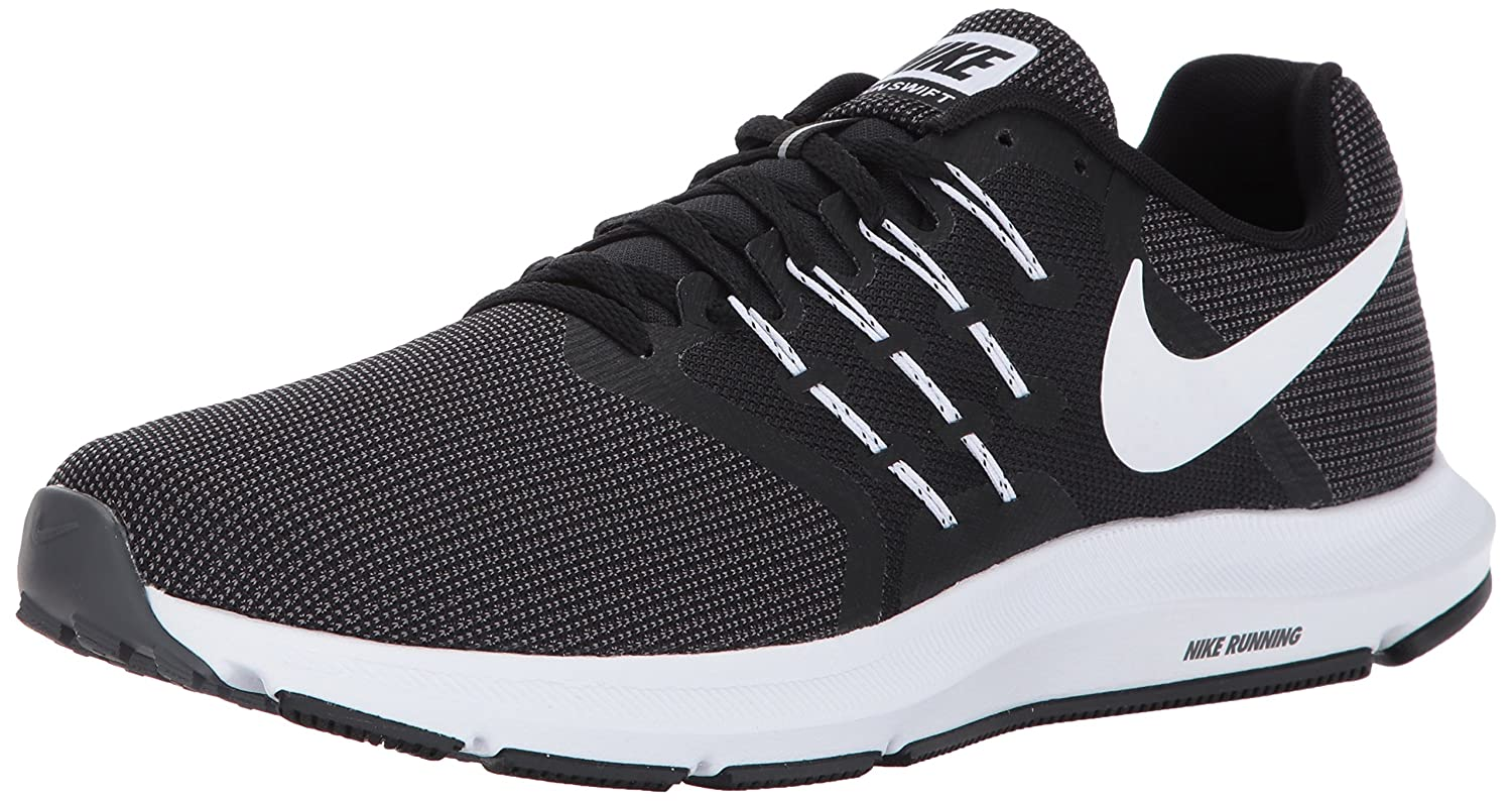 294646ad2 Nike Men's Run Swift Running Shoe Black/White/Dark Grey Size 11. 5 M US:  Buy Online at Low Prices in India - Amazon.in