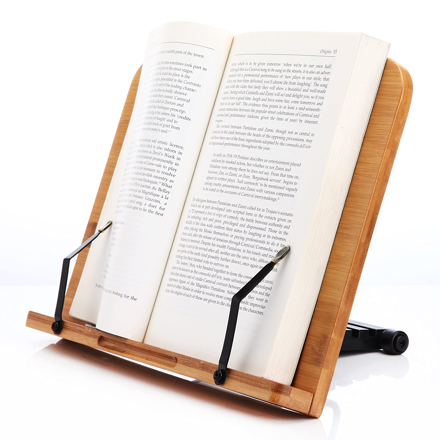 readaeer bamboo reading rest cook book document stand