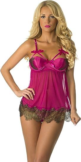 Velvet Kitten Sinsational Mesh Babydoll 3215 Purple lingerie One Size Fits All