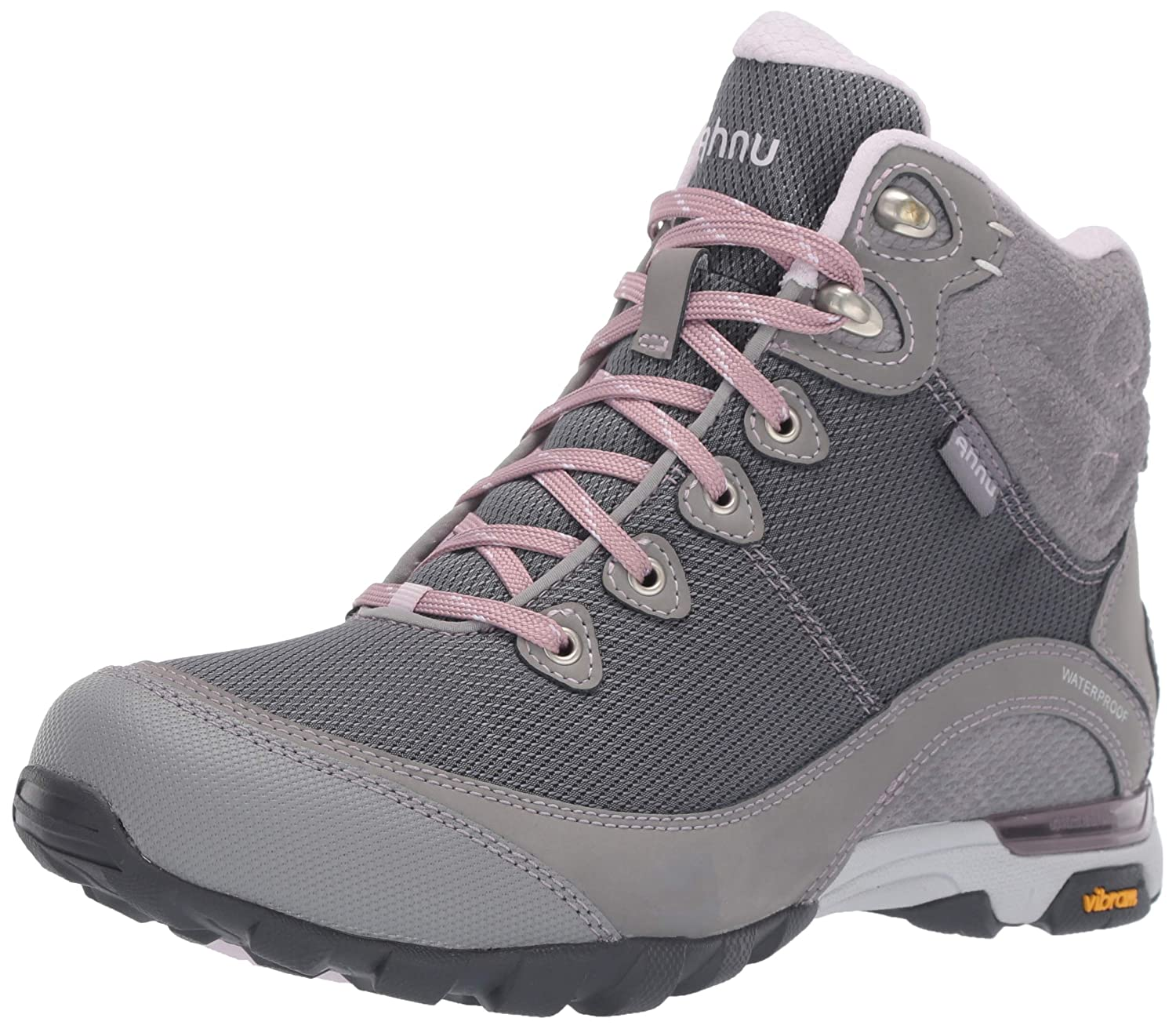 Image of Ahnu Women's W Sugarpine II Waterproof Ripstop Hiking Boot, Wild Dove/Orchid Ice, 11 Medium US Hiking Boots