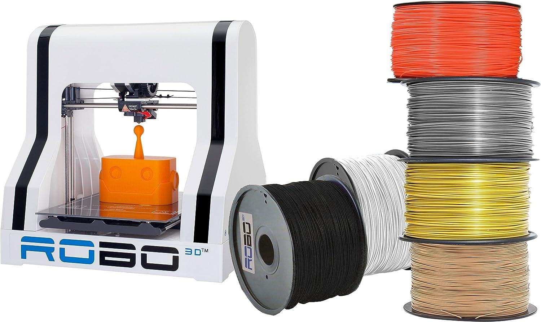 ROBO 3D AMZBUNDLE6 R1 Plus 10x9x8 A1-0006-000 impresora 3D con 6 ...