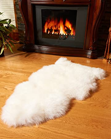 bowron premium ivory gold star single sheepskin rug