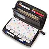 Cash Envelope Wallet All in One Budget System with 12x Tabbed Cash Envelopes , 12x Monthly Budget Cards ,1x Yearly…