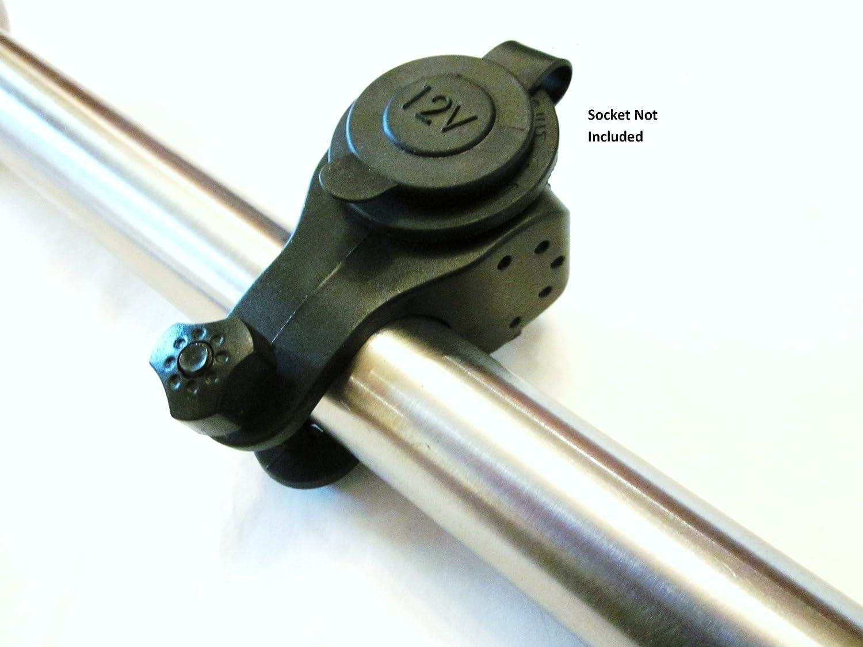 オートバイATVスクーターハンドルバーマウント12ボルトのアクセサリーソケットまたはCigarette Ligtherソケット(マウントのみ、Not theソケット) # hmnt B00B1CO606