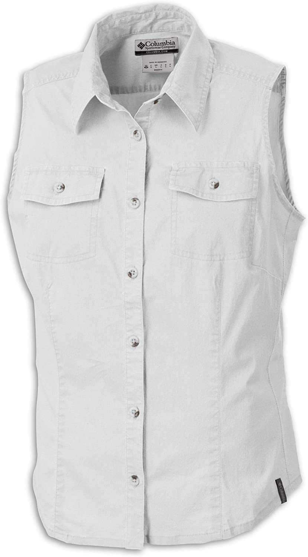 Columbia Littlerock - Camisa para Mujer, tamaño M, Color Blanco: Amazon.es: Ropa y accesorios