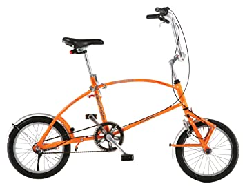 Big Fish Orange - Bicicleta plegables, rueda 16 in, color rojo