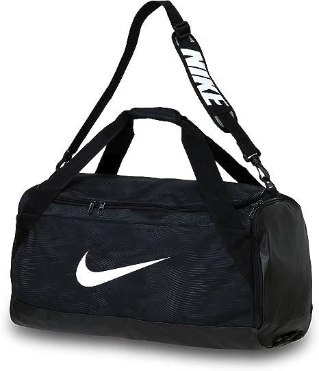 mejor sitio web a un precio razonable auténtico auténtico Amazon.com: Nike Brasilia 6 Duffel Bag Black/White Size Medium ...