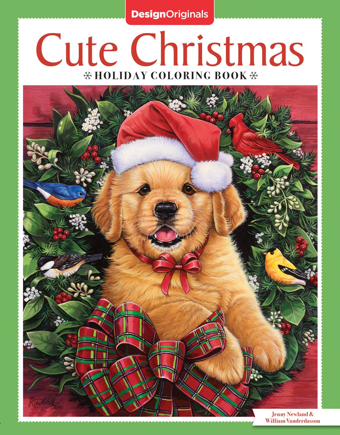 Cute Christmas Puppies.Amazon Com Cute Christmas Holiday Coloring Book Design