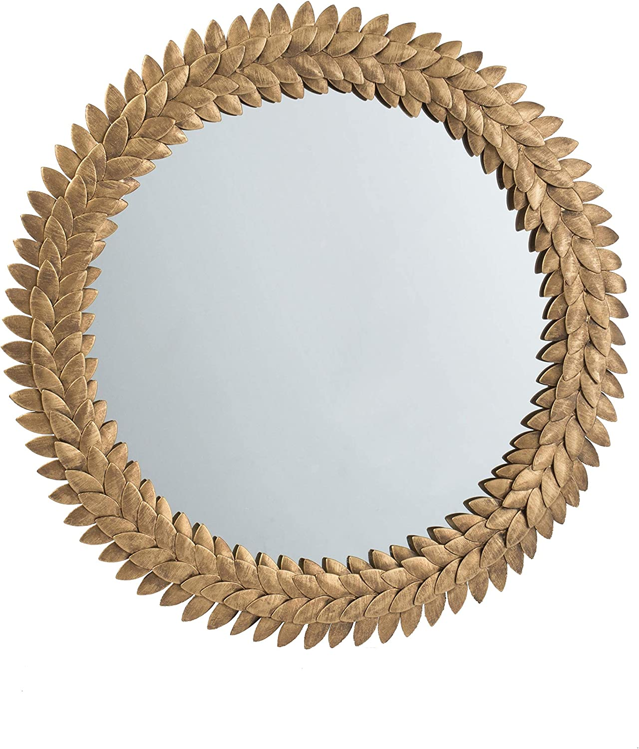 A&B Home Iron Leaf Mirror - Gold