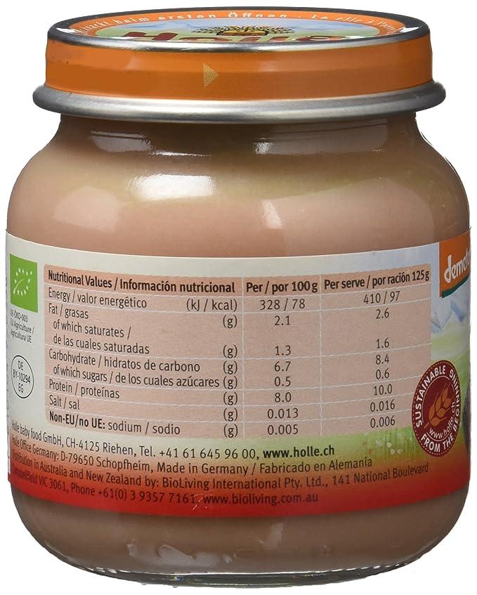 Holle Potito de Ternera 100% (+4 meses) - Paquete de 6 x 125 gr - Total: 750 gr: Amazon.es: Alimentación y bebidas