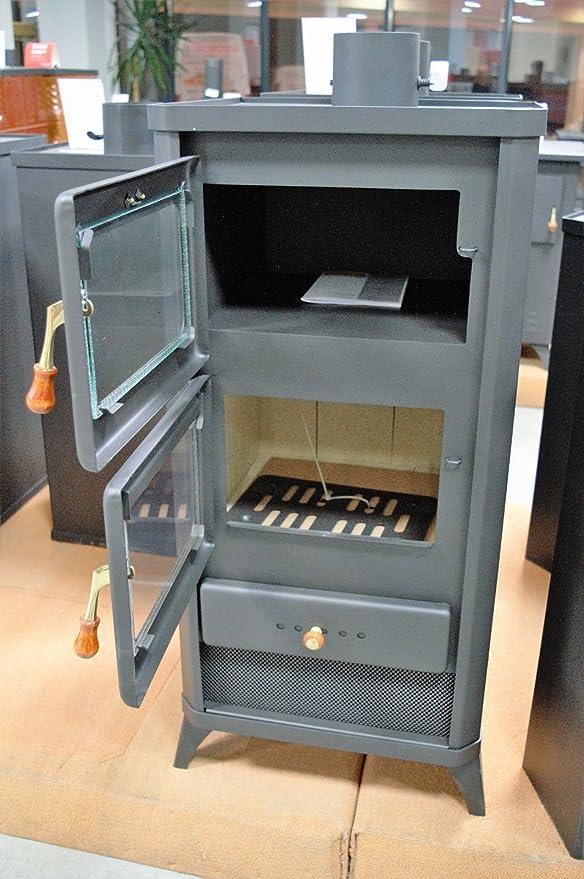 Poêle à bois Réchaud de cuisson au four cuisinière Cheminée 12 kW ...