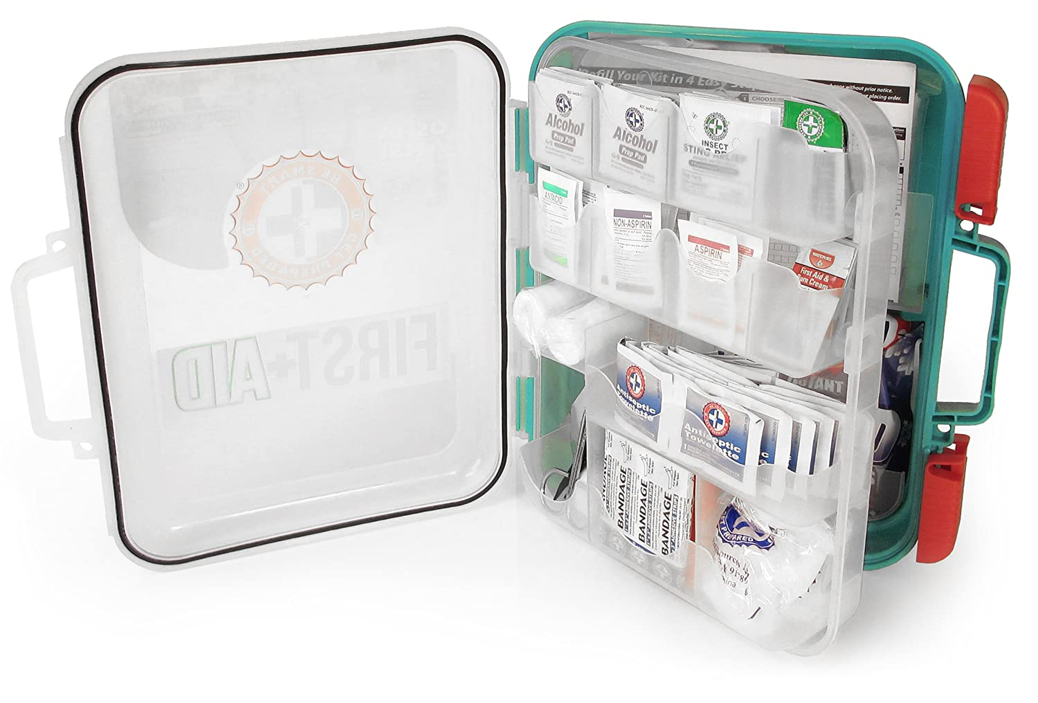 First Aid Kit Hard Teal Case 326 Pieces