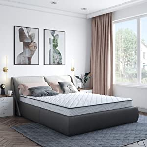 Classic Brands Emory Bonnel Innerspring Firm 6-Inch Mattress | Bed-in-a Box Twin