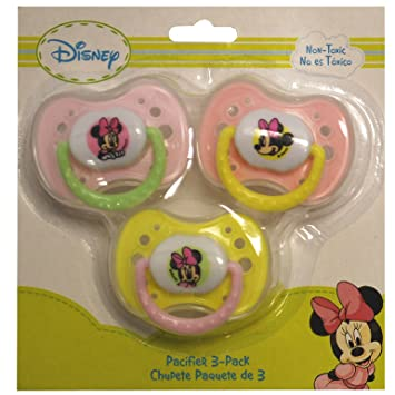 Disney Mickey Mouse Pacifier 3 Pack (Pink)