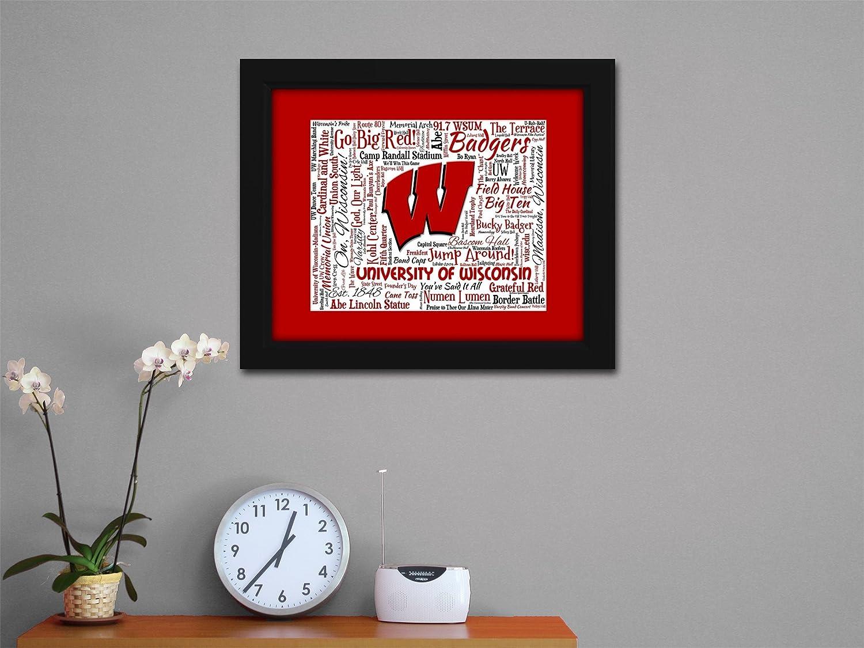 Branding Bascom Hall With Big Red W >> Amazon Com University Of Wisconsin Madison 16x20 Art Piece
