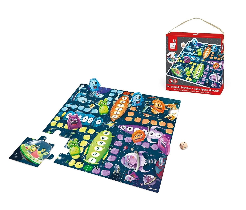Janod J02792 - Spiel Lass' Dein Monster Gewinnen im Monsterdesign