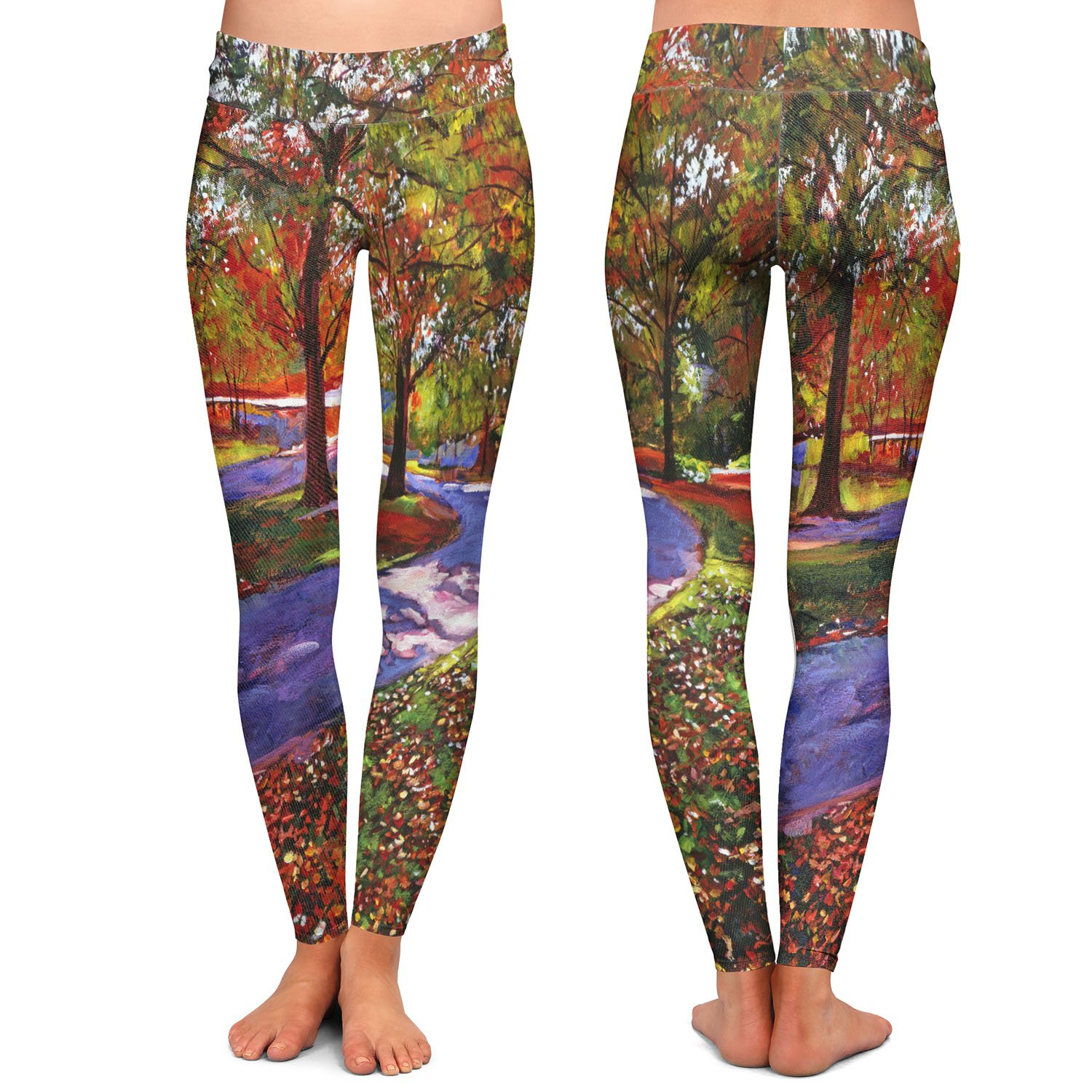 Athletic Yoga Leggings from DiaNoche Designs by David Lloyd Glover Road by Lake