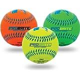 Franklin Sports - Pro Brite - Neon Rubber Teeball - MLB - Youth Tball - Baseball + Softball - Indoor & Outdoor Use