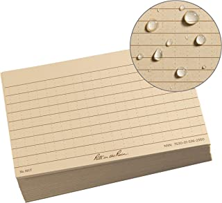 "product image for Rite in the Rain All Weather Index Cards, 3"" x 5"", Universal Pattern, Tan (No. 991T)"