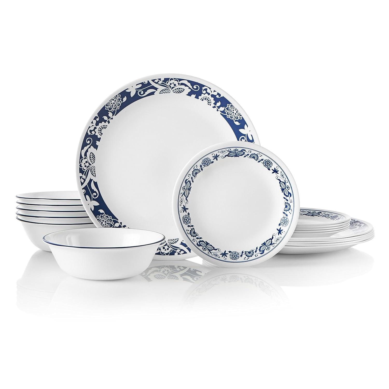Corelle 1134333 Dinnerware Set 18-Piece True Blue