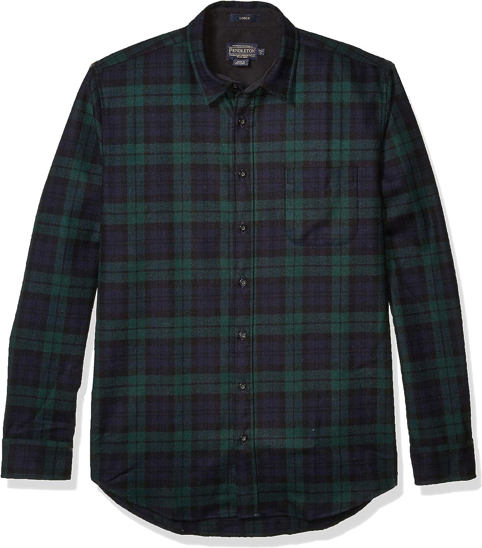 Pendleton Men's Long Sleeve Button Front Tall Lodge Shirt