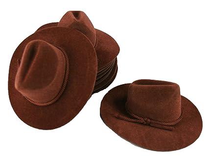 Amazon 12 Mini Brown 4 Felt Cowboy Hat Western Wedding Party
