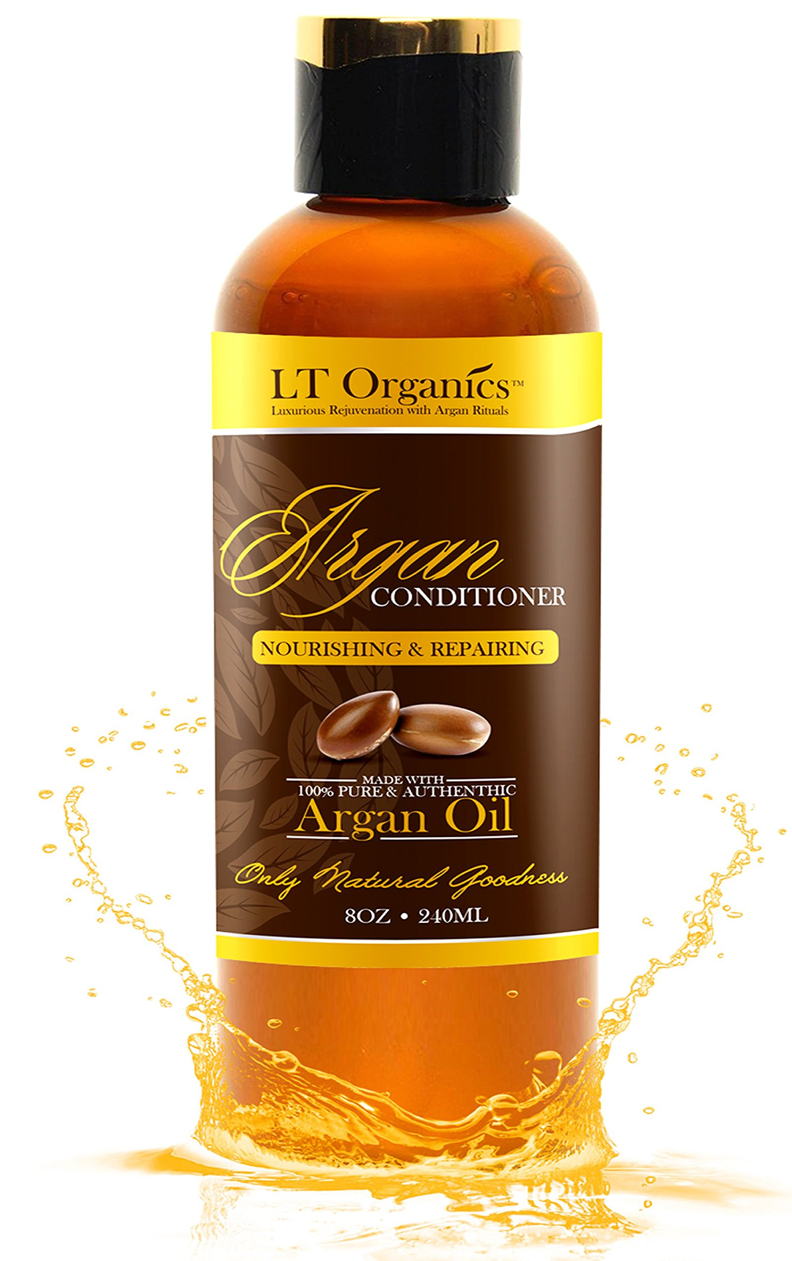 BEST Paraben Free and Sulfate Free Argan Oil Conditioner - Eliminates Frizz & Restores Hair Growth - Backed By 120-Day warranty & 100% Satisfaction Guarantee! Renewing, Natural & Sulfate-free. 8oz