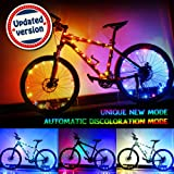 Bodyguard Upgraded LED Bike Wheel Lights - Auto Discolorate, Ultra Bright Bicycle Spoke Lights, Waterproof Light String (1 pack) - Included One Charger