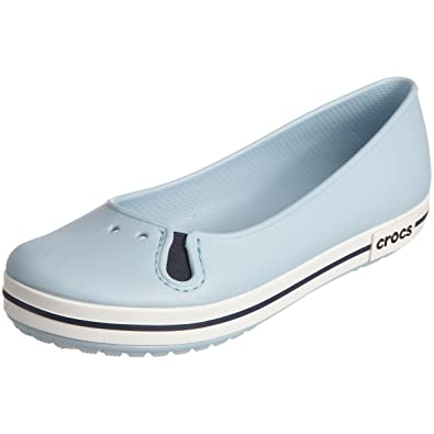 4ba4ff6107ea41 crocs Crocband Women Flat in Blue: Buy Online at Low Prices in India -  Amazon.in
