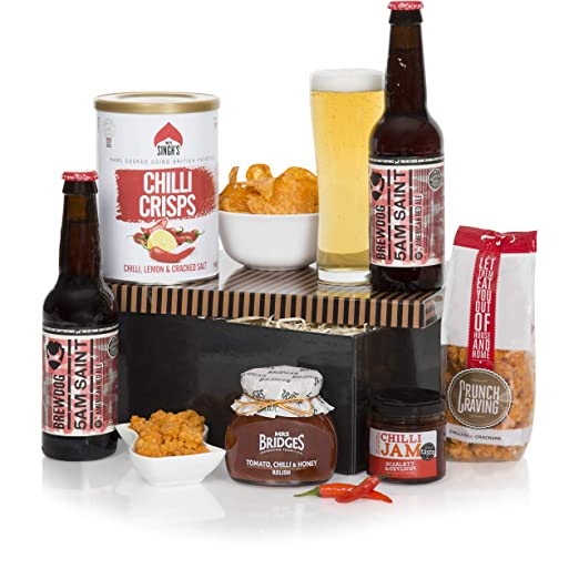 015acf72837c ... For Him - Brew Dog Beer - Food Gift Hampers   Chilli Snacks - Presented  In A Luxury Gift Box - Birthday Beer Hampers  Amazon.co.uk  Beer