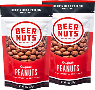 product image for BEER NUTS Original Peanuts - 8oz Resealable Bag, Sweet and Salty, Gluten-Free, Kosher, Low Sodium Peanut Snacks (2-Pack)