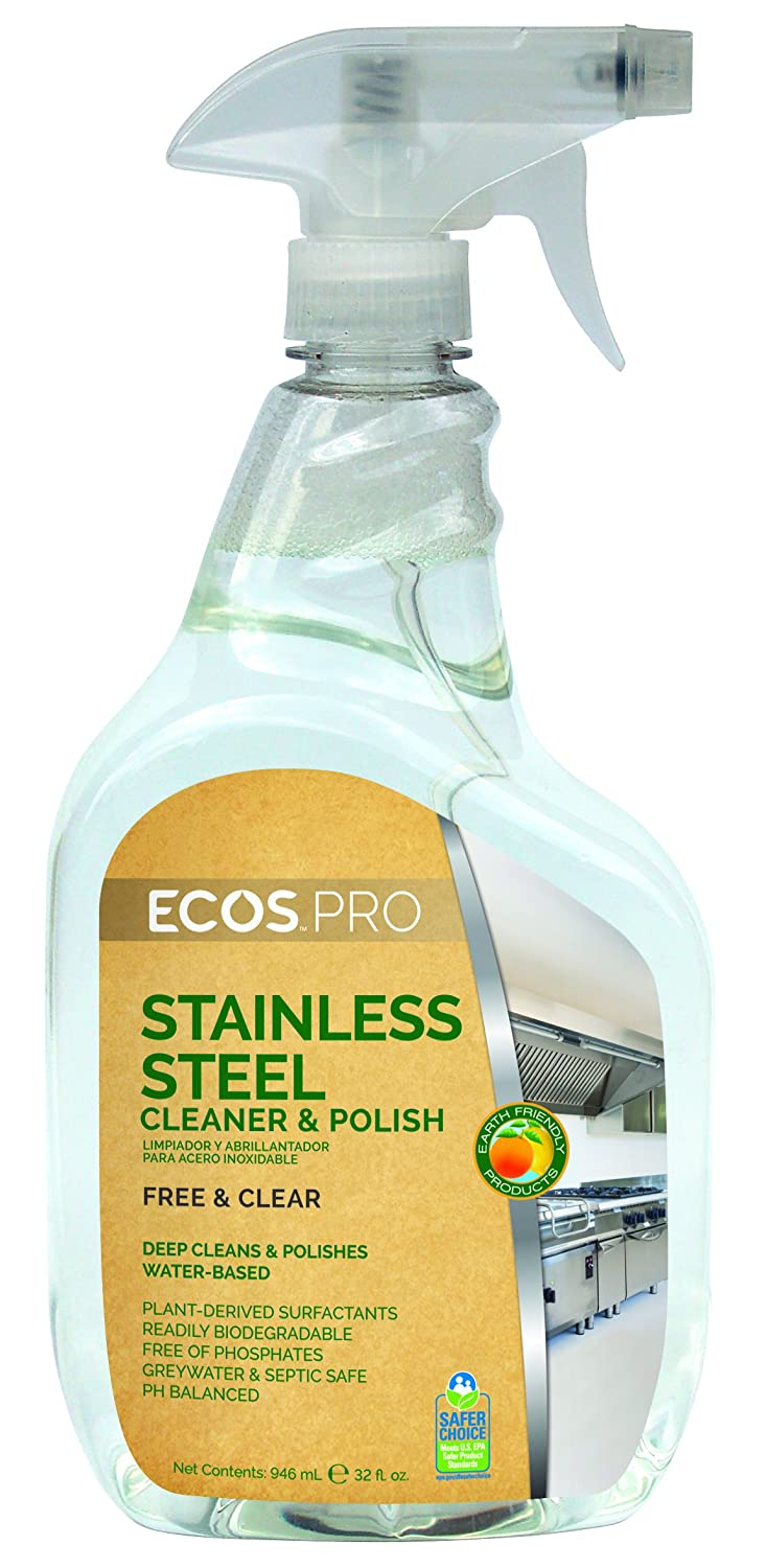 ECOS PRO PL9330/6 Stainless Steel Cleaner and Polish (Pack of 6)