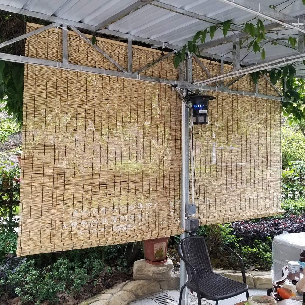 LMDX Persianas De Bambu Exterior,estores Enrollables,Natural Privacidad Sombra,Casas Decoración,Colgando Persianas De Caña,Cortina De Madera: Amazon.es: Hogar