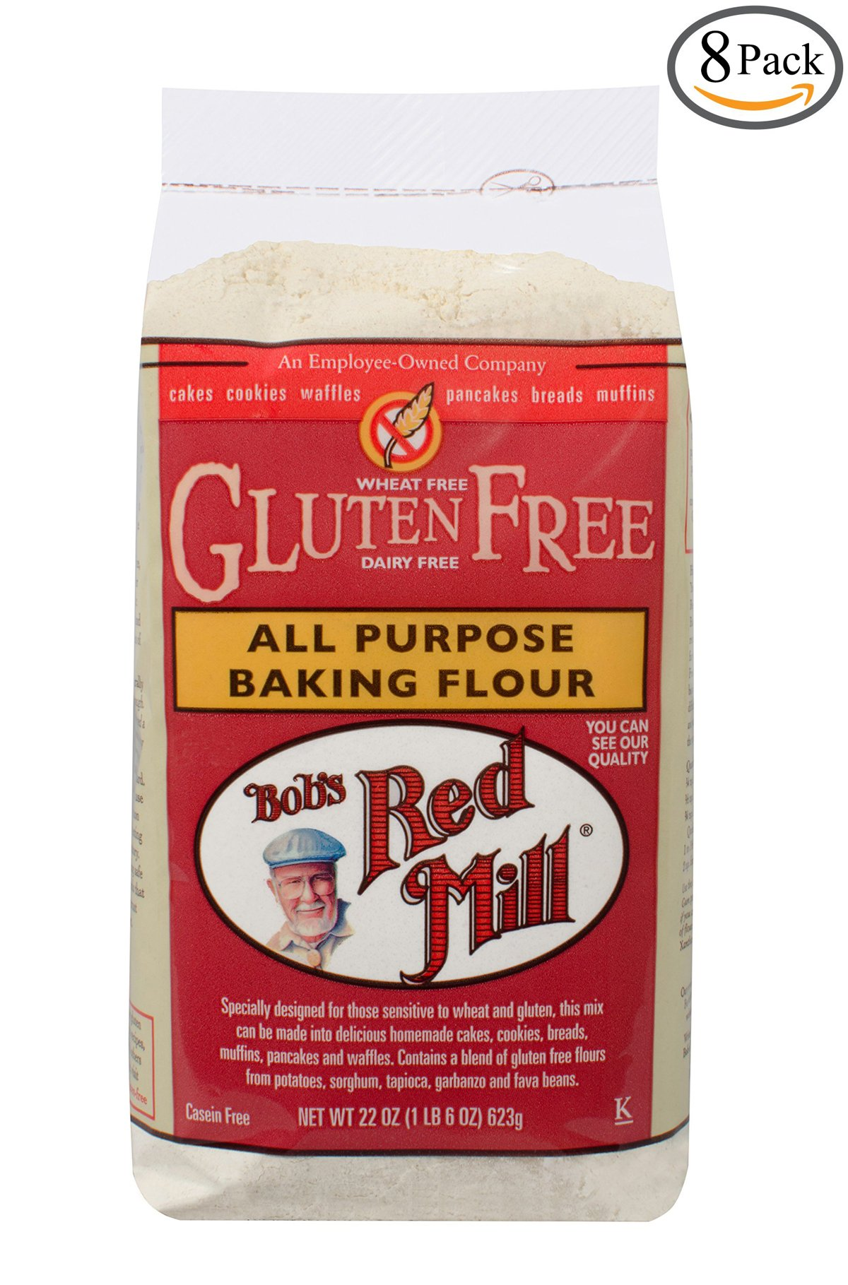Bobs Red Mill Gluten Free All-Purpose Baking Flour, 22-ounce (Pack of 8)