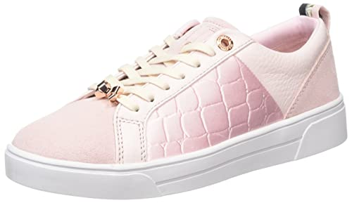 ae6e6f4c1446a Ted Baker Women s Kulei Leather Lace Up Trainer Light Pink-Pink-8 ...