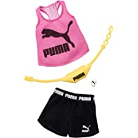 Barbie Clothes: Puma Outfit for Barbie Doll with 2 Accessories, Shorts Set