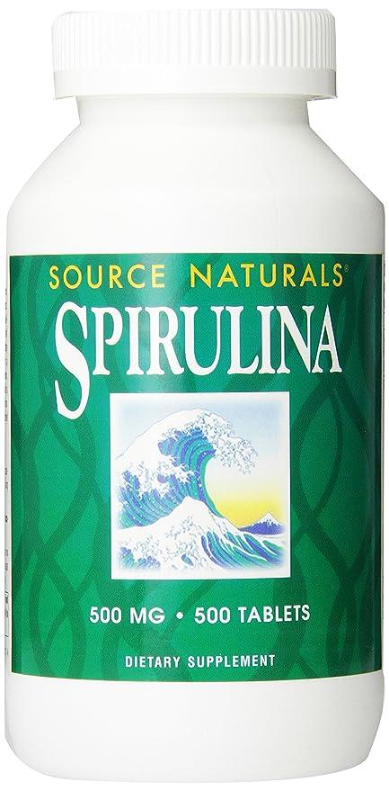 Source Naturals Spirulina 500mg, 500 Tablets