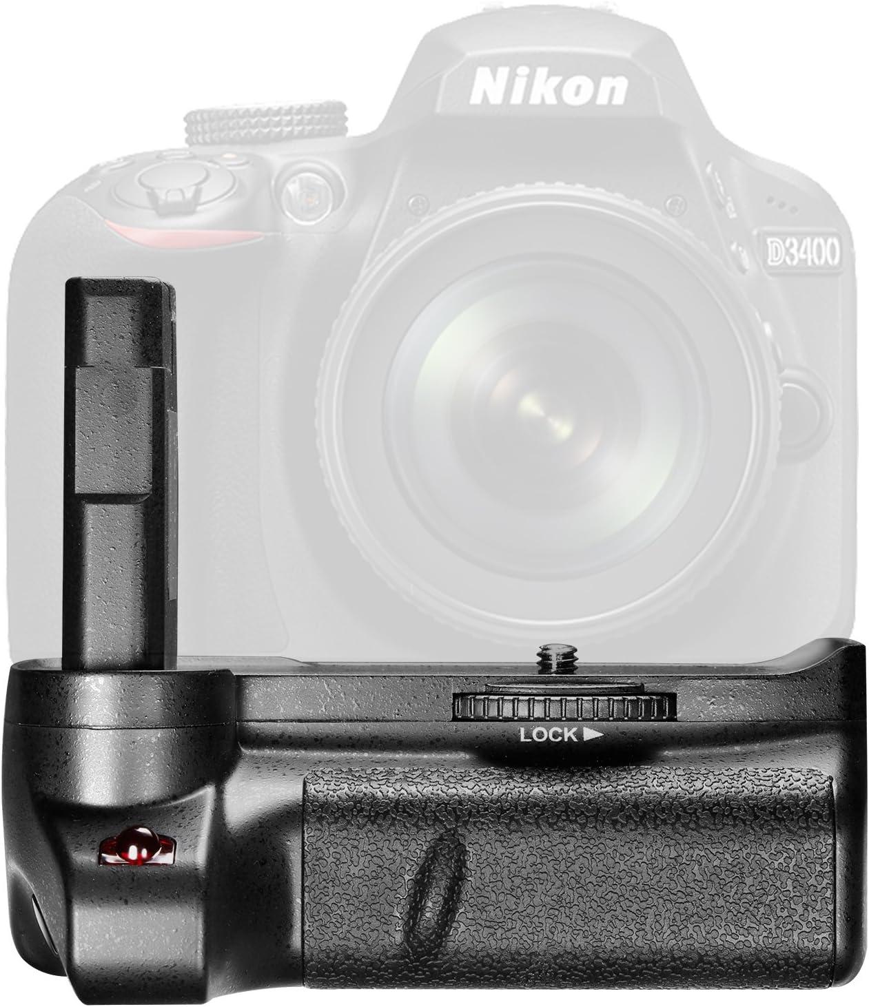 Neewer Empuñadura Vertical Batería para Nikon D3400 Cámara Réflex ...