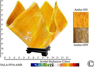product image for Jezebel Radiance Large Flame Amber Vase Lamp