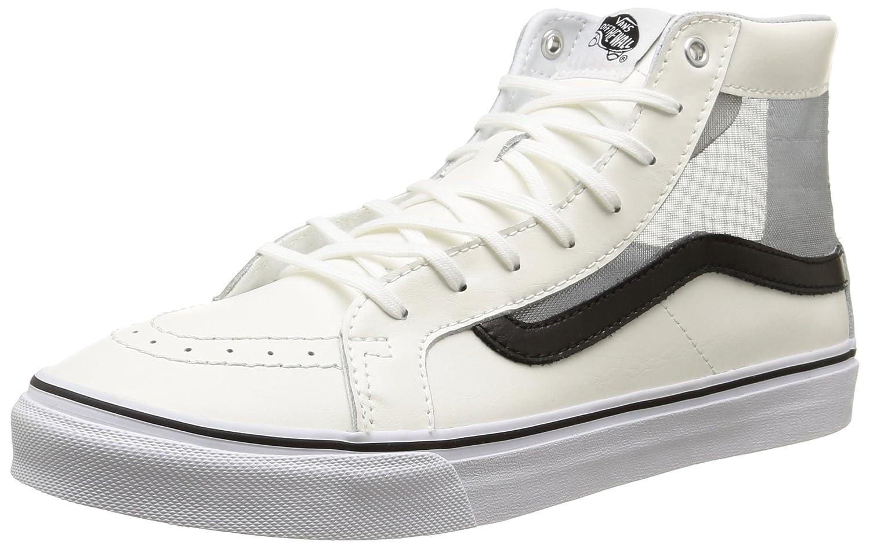 Vans Unisex Sk-8Hi Slim Cutout (Mesh) Skate Shoe 5.5 B(M) US|(Mesh) White/Black