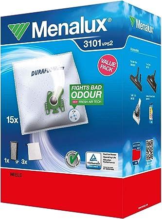 Menalux 3101 MP 12 sacs aspirateur avec 2 micro filtres