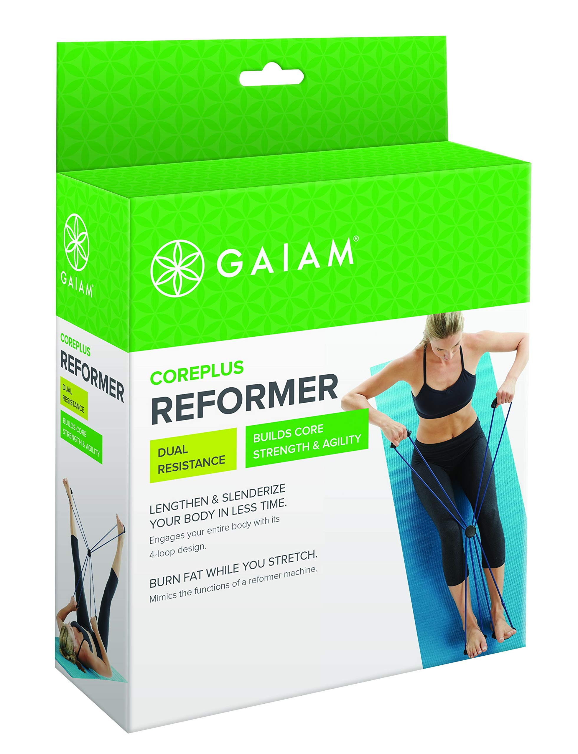 Gaiam Pilates Coreplus Reformer Resistance Band Kit (Includes Digital Workout)