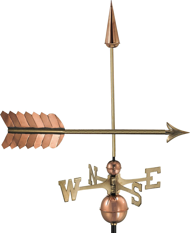 Good Directions Arrow Weathervane, Pure Copper