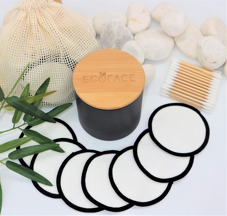 Umweltfreundliche Hautpflege Geschenke perfekt f/ür alle Hauttypen 16 St/ück   100/% Bio-Make-up-Entferner Pads ECOFACE Wiederverwendbare Bambus-Baumwollpads